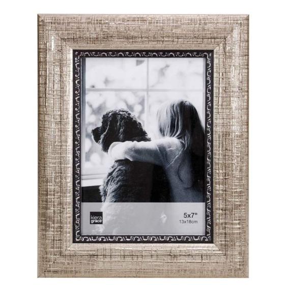 AZ Home & Gifts Brooks 5x7 Texturé argent brossé
