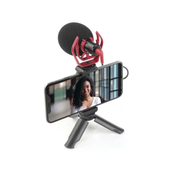 Mobifoto Vlogging kit (Tripod & Microphone)