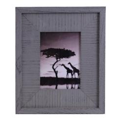 Cadre 8x10 bois gris 3po