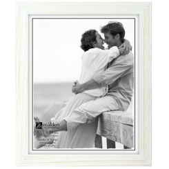 Rustic frame 8x10 washed white