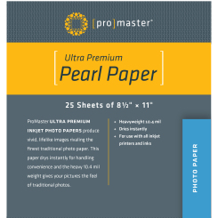 Papier Perlé Ultra Premium - 8 1/2''x11'' - 25 Feuilles