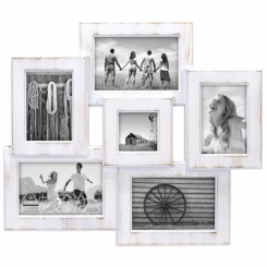 Berkshire 6 openning white washed frame