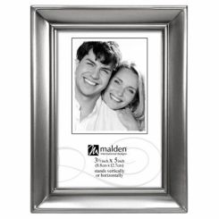 Concourse 3.5x5 pewter metal frame