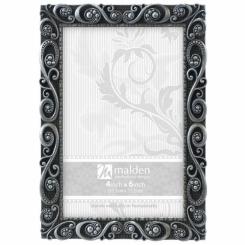 Cadre 4x6 Morgan métal argent