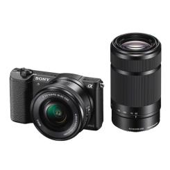 a5100 avec 16-50mm OSS + 55-210mm OSS