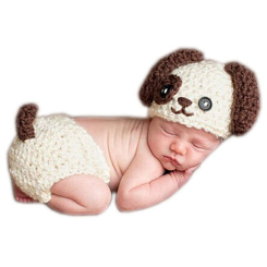 Beanie and Baby Diaper Cover - Dog (2 pieces)
