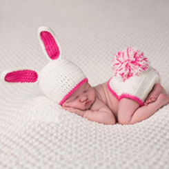 Beanie and Baby diaper cover - Rabbit (2 pieces)
