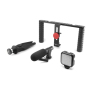 Mobifoto Kit handle frame with light and Microphone for phone