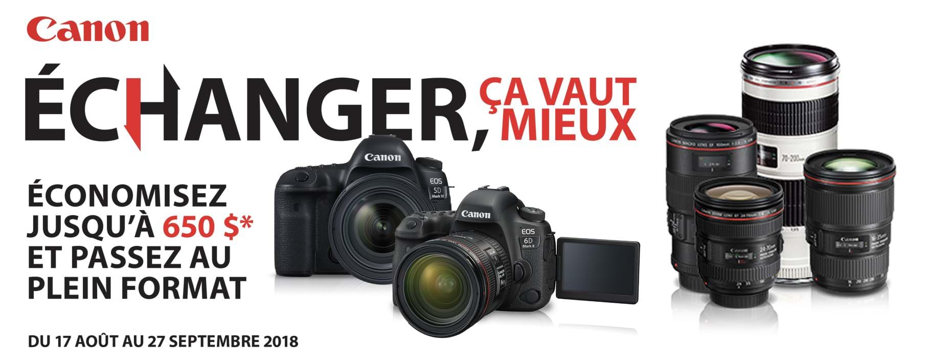Canon échange